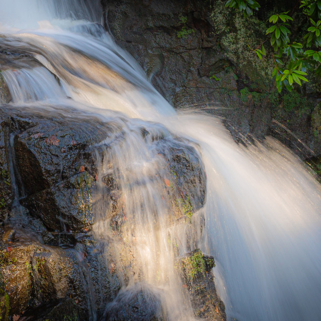 """""""The beauty of falling water"""" stock image"""