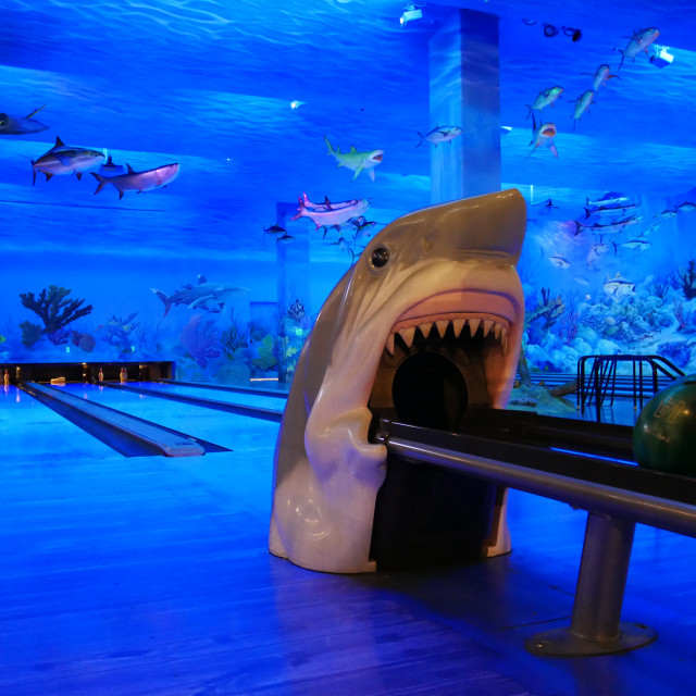 """Bass Pro Bowling Alley Memphis Pyramid"" stock image"