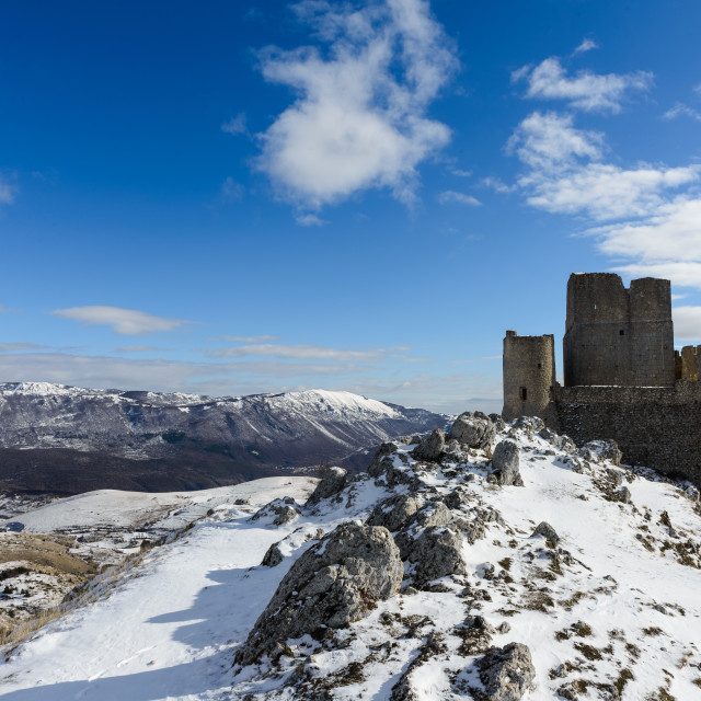 """""""Ancient fortress in the Abruzzesi mountains"""" stock image"""