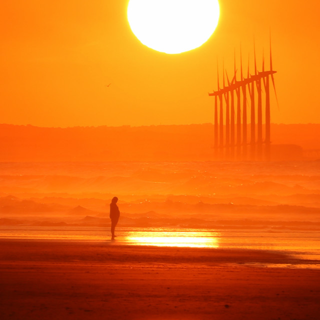 """""""Peace at sunset."""" stock image"""