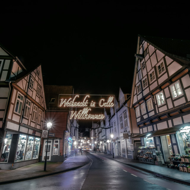 """Christmas Time In Celle, Germany"" stock image"