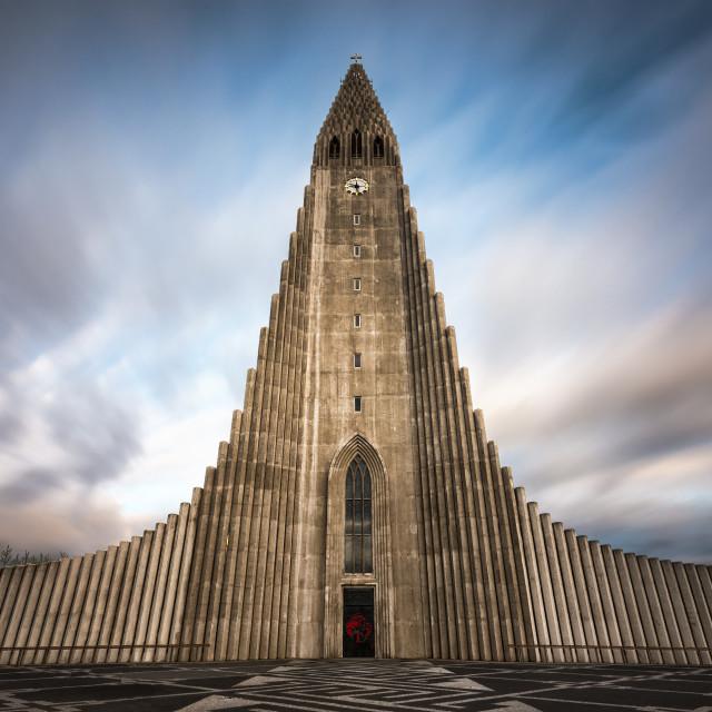 """""""Hallgrímskirkja (church of Hallgrímur) - Reykjavík, Iceland"""" stock image"""