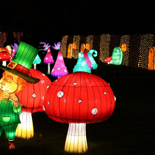 """""""Festival of light, Longleat,"""" stock image"""