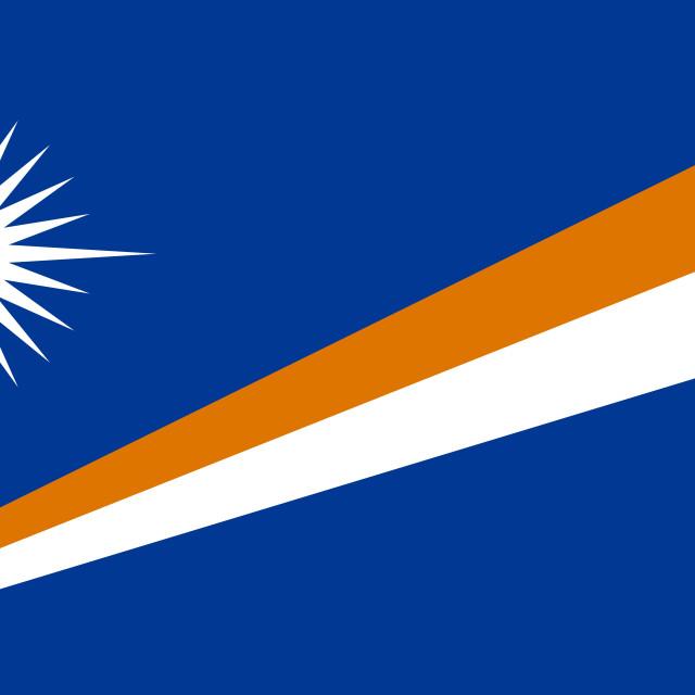 """Flag of the Marshall Islands"" stock image"