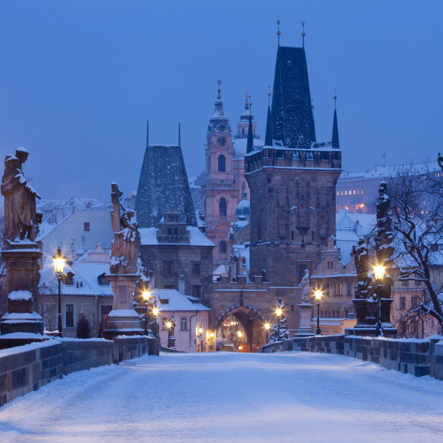 """prague charles bridge"" stock image"