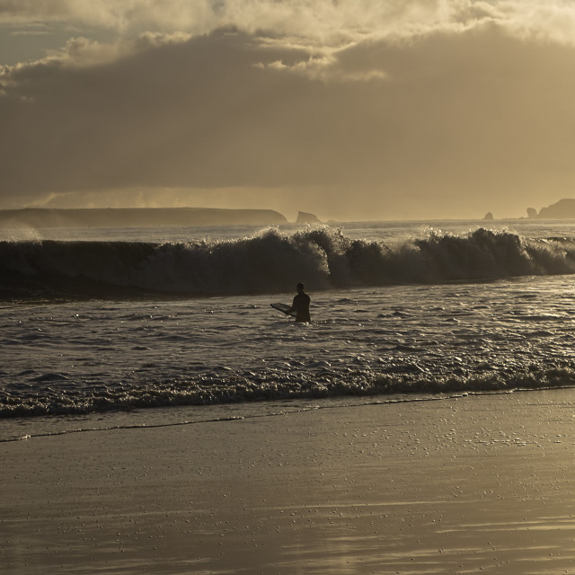 """""""Lone Surfer"""" stock image"""