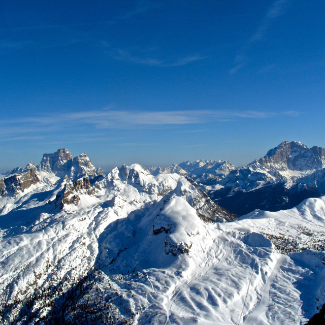 """Across the Dolomites"" stock image"