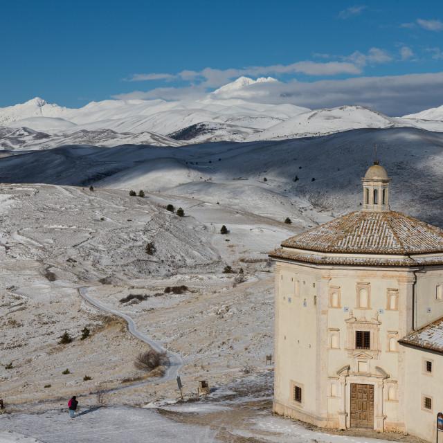 """""""Oratory of Santa Maria della Pietà in Calascio"""" stock image"""