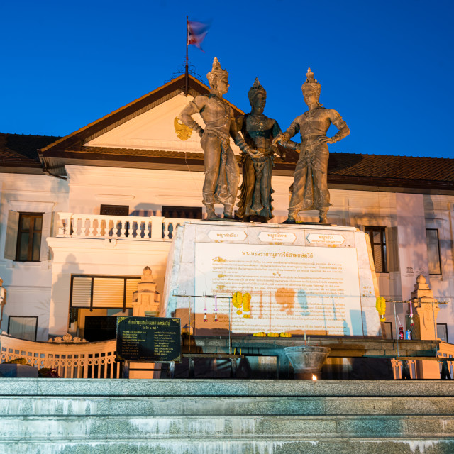 """""""Three Kings Monument Square in Chiang Mai"""" stock image"""