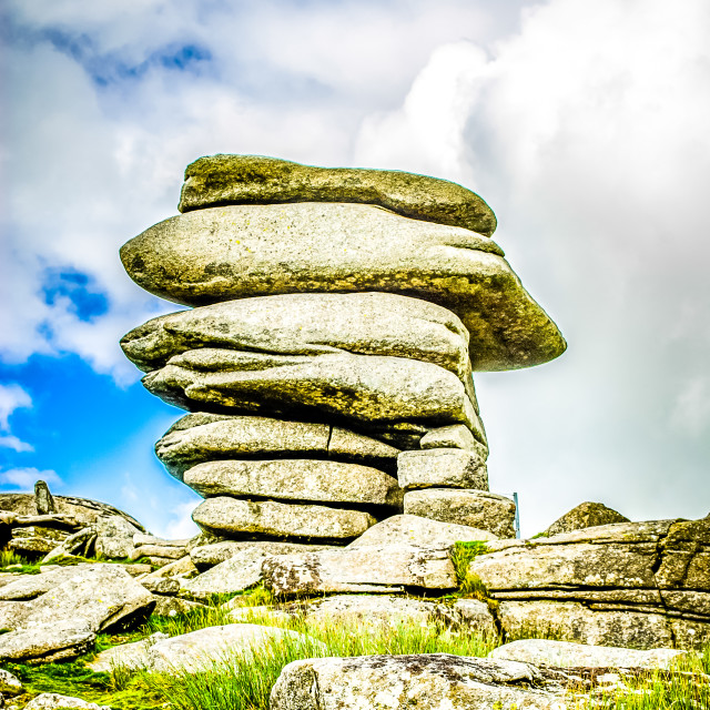 """The Cheesewring stones, Minons, Cornwall, UK"" stock image"