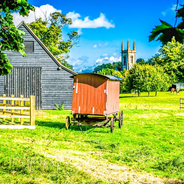 """""""Village scene - Chawton Hampshire UK"""" stock image"""