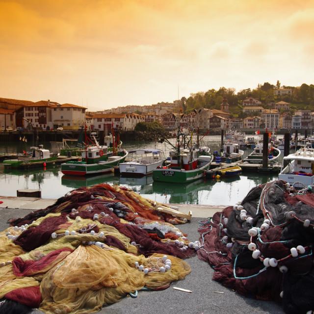 """Saint-Jean-de-Luz harbor"" stock image"