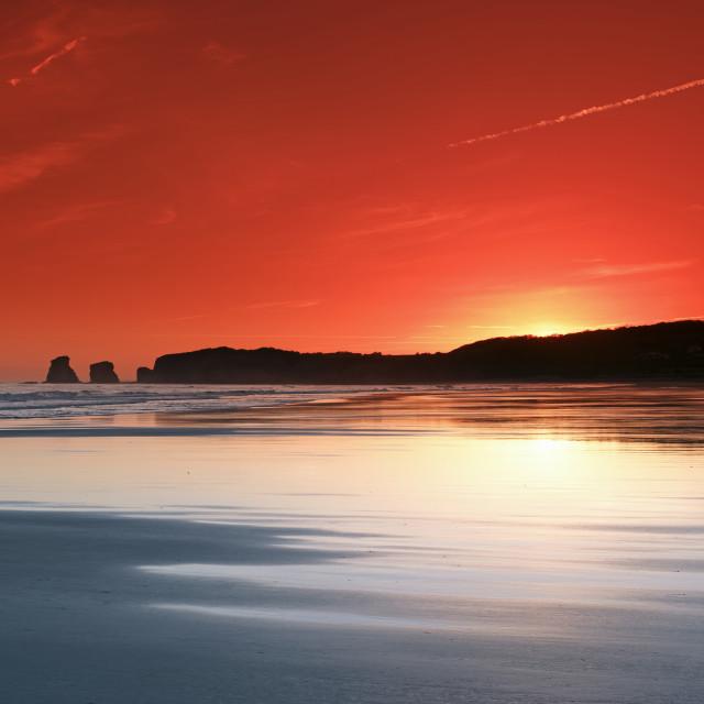 """""""Hendaye sunrise"""" stock image"""