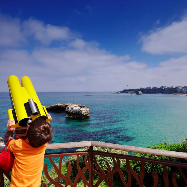 """Biarritz panorama"" stock image"
