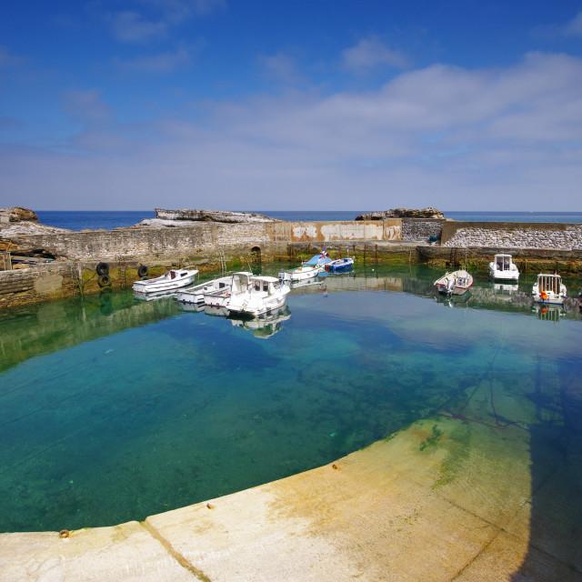 """Biarritz old harbor"" stock image"