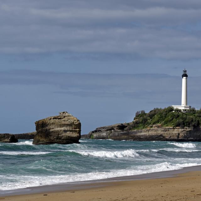 """Biarritz lighthouse"" stock image"