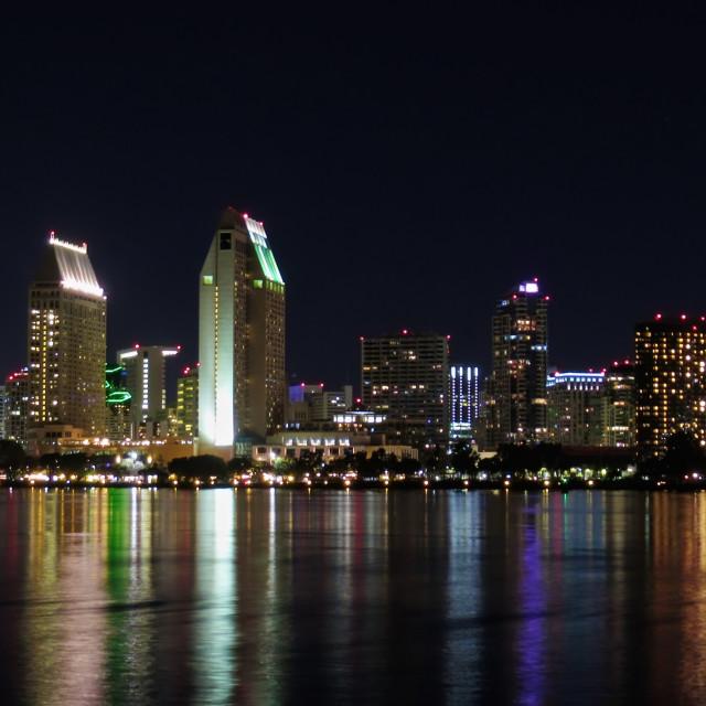 """San Diego Skyline"" stock image"