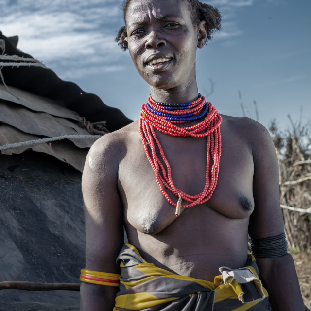 """""""dassenech tribe in south omo valley"""" stock image"""