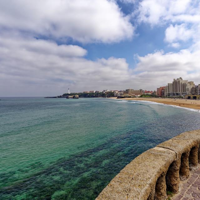 """Biarritz big beach"" stock image"