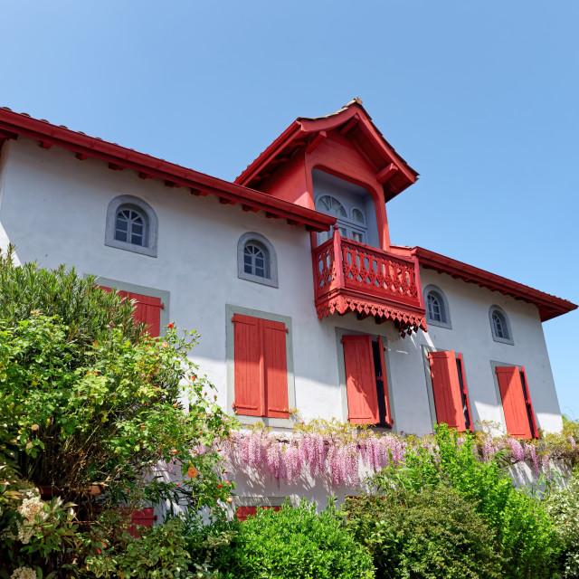 """Traditional Basque Villa"" stock image"