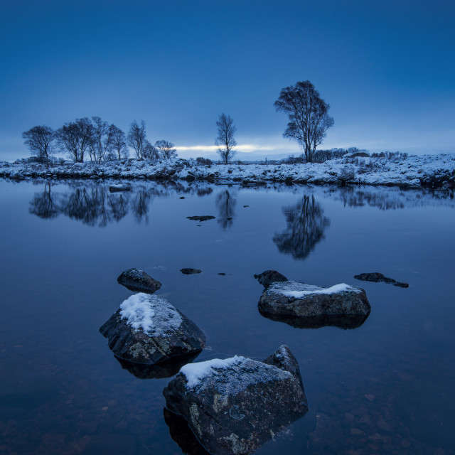 """First Light at Rannoch Moor"" stock image"