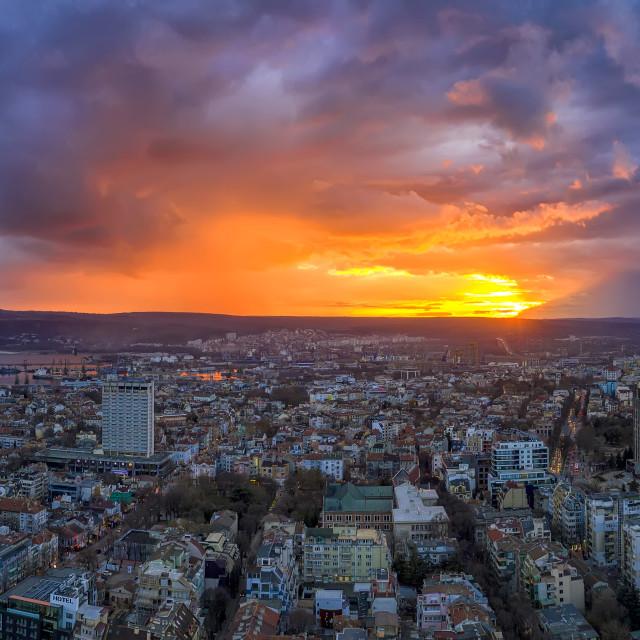 """""""Amazing colorful sunset"""" stock image"""