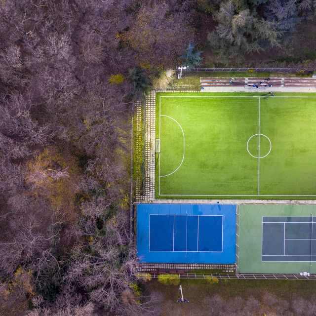 """""""soccer and tennis playground"""" stock image"""