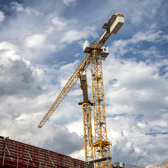 """""""cranes and building"""" stock image"""