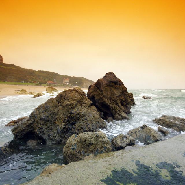 """Marbella beach"" stock image"