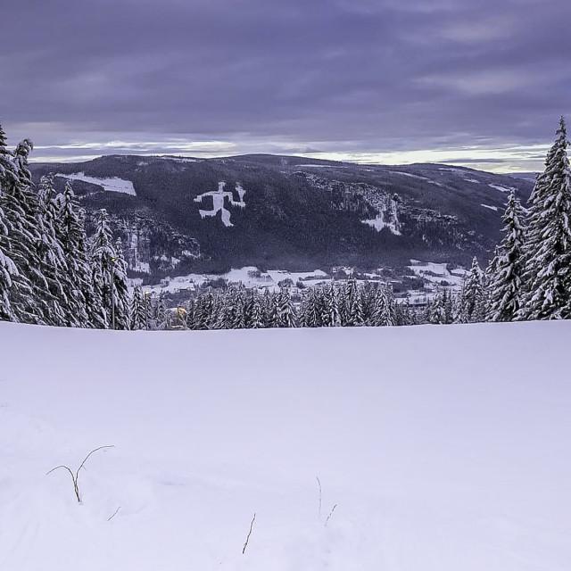"""""""Hafjell ski in Norway"""" stock image"""