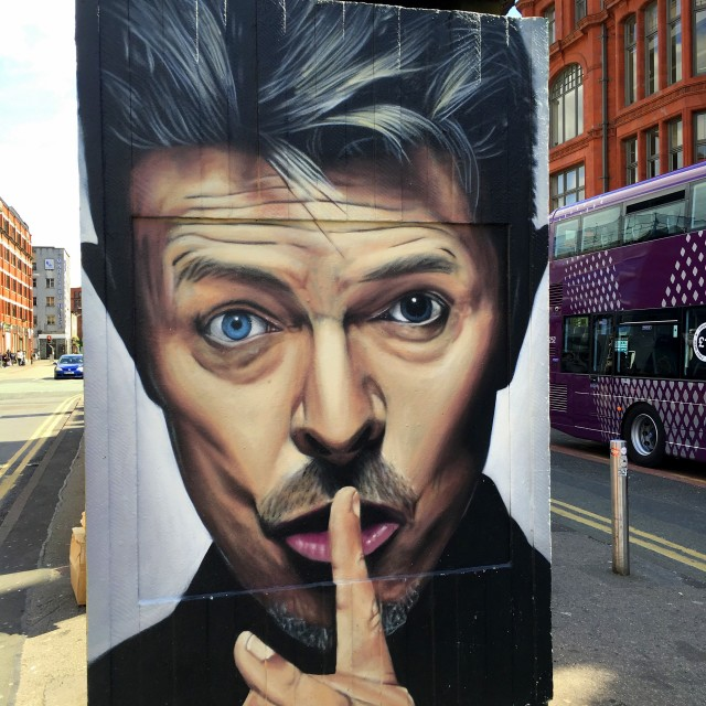 """""""David Bowie mural. Northern Quarter, Manchester."""" stock image"""