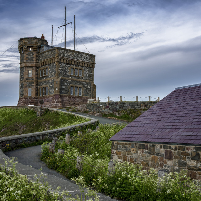 """Cabot Tower atop Signal Hill, St. John's Newfoundland Canada"" stock image"