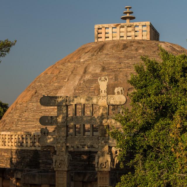 """Great Stupa at Sanchi. Madhya Pradesh, India"" stock image"