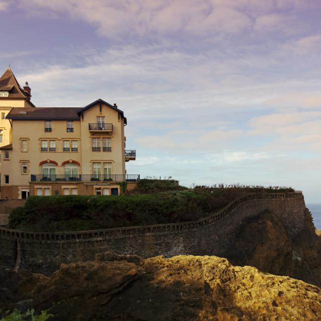 """Biarritz coastline"" stock image"