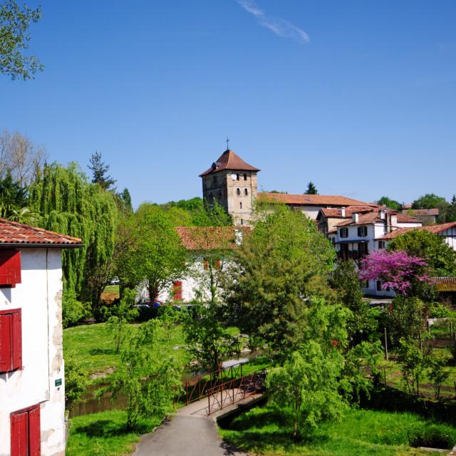 """Espelette village"" stock image"