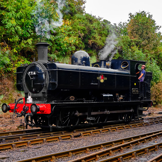 """""""7714 moves at Bewdley."""" stock image"""