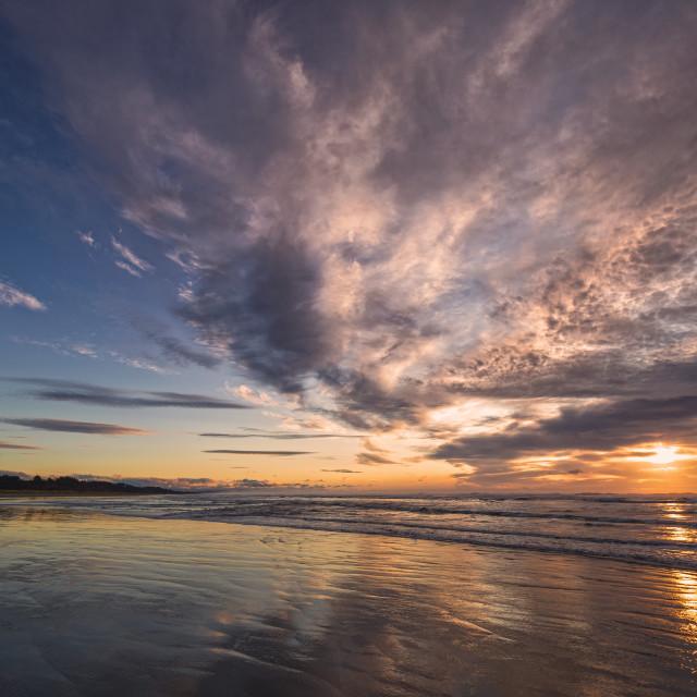 """Sunset at a Beautiful Northern California Beach"" stock image"