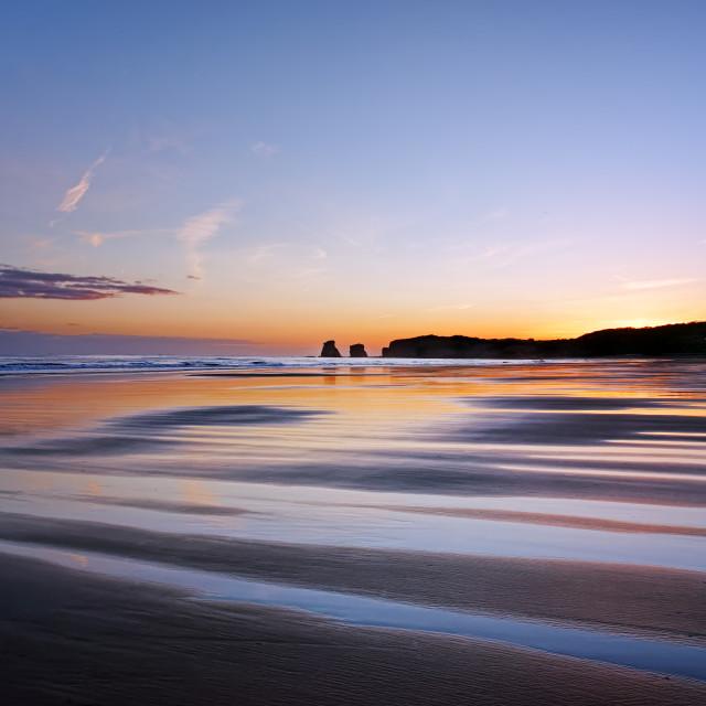"""Hendaye beach"" stock image"
