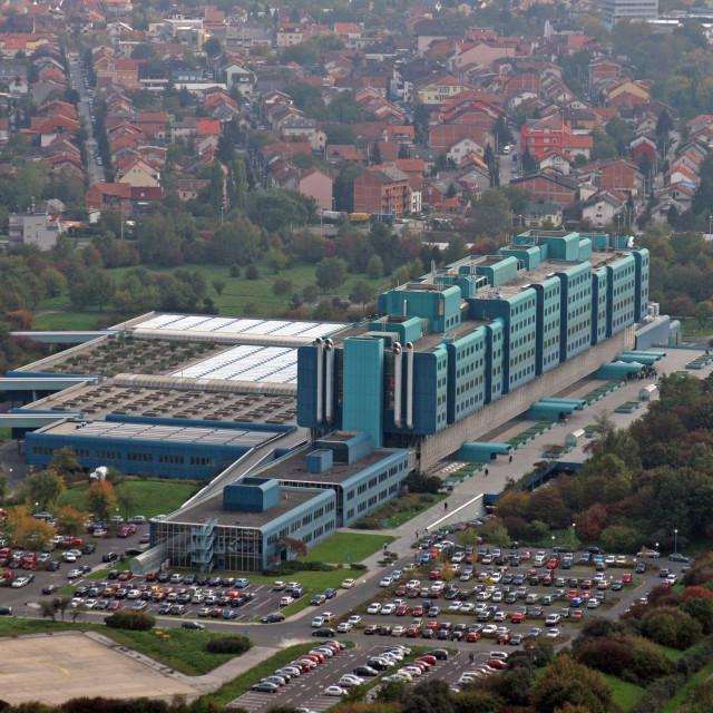 """Clinical hospital Dubrava in Zagreb Croatia"" stock image"