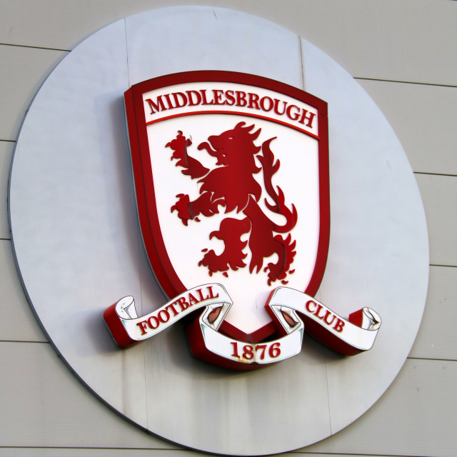 """Middlesbrough Football Club crest."" stock image"