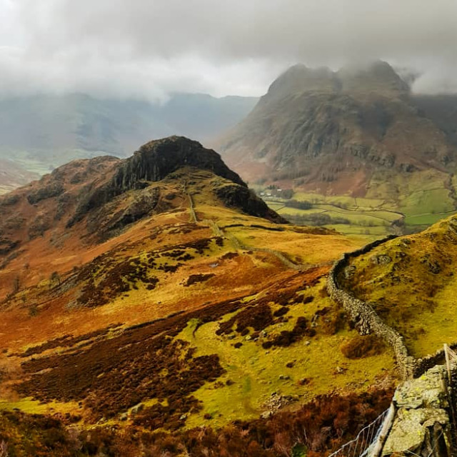 """Side Like and the Langdale Valley"" stock image"