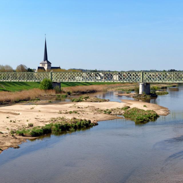 """""""Sully-sur-Loire bridge"""" stock image"""