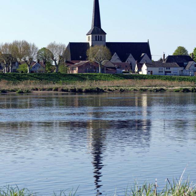 """Sully-sur-Loire church"" stock image"