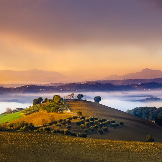 """""""Abruzzo Sunset"""" stock image"""