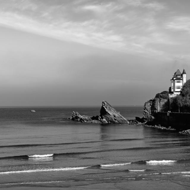 """Villa on the Biarritz coastal road"" stock image"