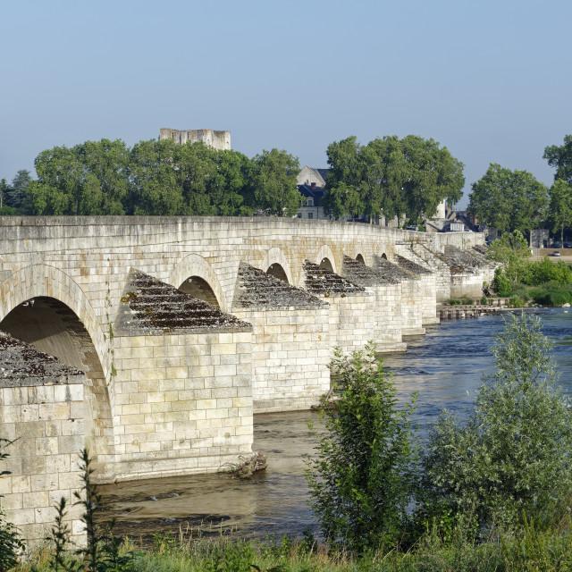 """Beaugency old bridge"" stock image"