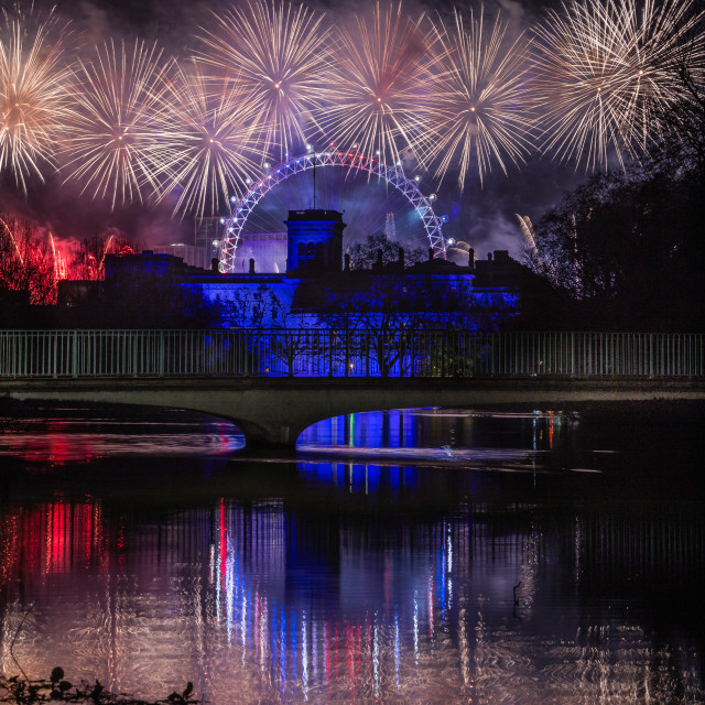 """New Year Begins. London 2020"" stock image"