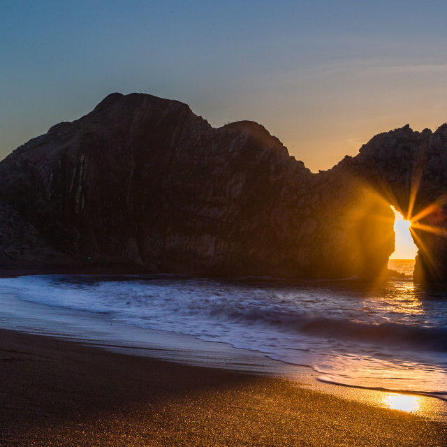 """Sunrise On The Coast"" stock image"