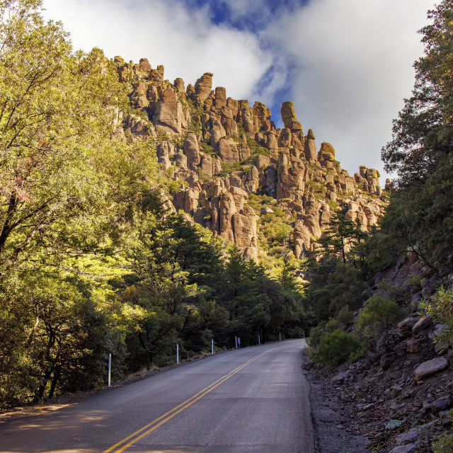 """Bonita Canyon Drive in Chiricahua National Monument"" stock image"
