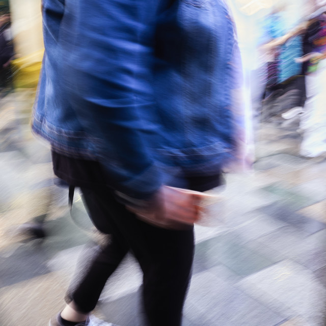 """Bustle and strife at the shops"" stock image"